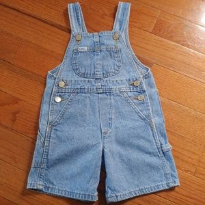 Vintage Lee Jeans Denim Shortall Overall Shorts 2T